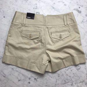Express Shorts - NWT Express Khaki Chino Tan Flat Front Shorts 2